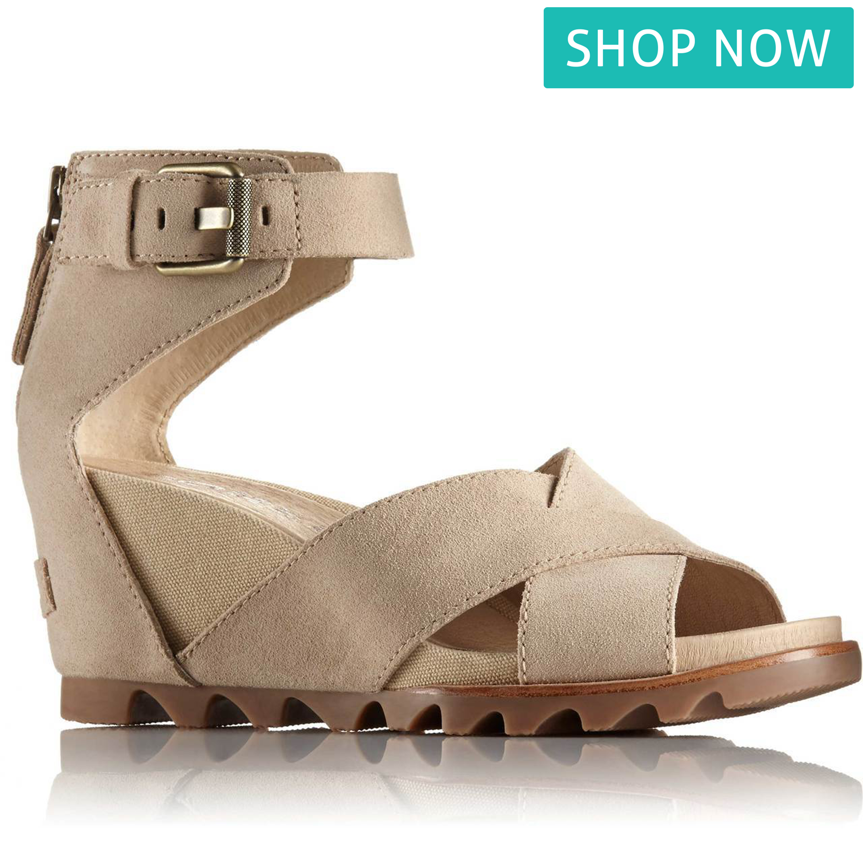 f2f52178b8a4 Left  Clarks Unstructured Women s Un Plaza Sling in Black Nubuck. Also  available in Peach Nubuck and Warm Grey Nubuck. Right  Sorel Joanie Sandal  II in ...