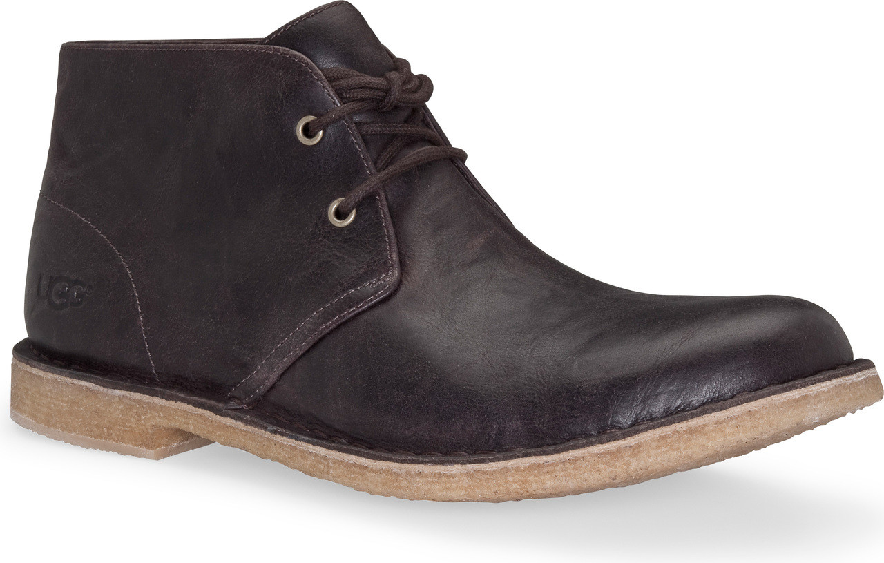 Home; UGG Australia Men's Leighton Leather. Black. Black; Chestnut; Chocolate