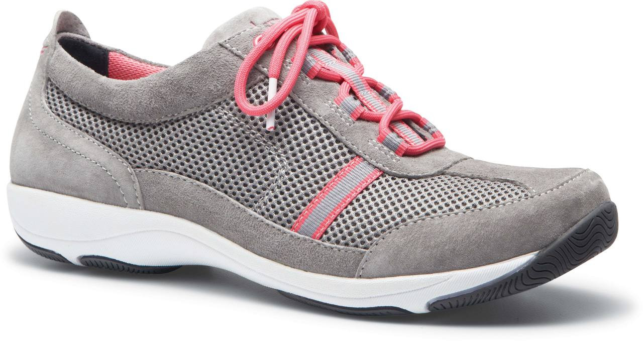 Grey/Pink Suede Leather
