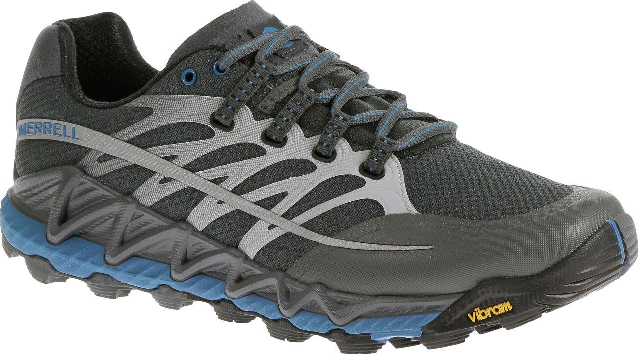 713ebaad918 ... Merrell Men's All Out Peak. Black/Molten Lava. Black/Molten Lava; Grey;  Racer Blue/Bright Green; Turbulence/Blue