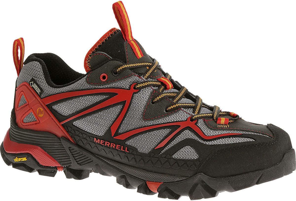 434bc06a3c8 ... Sneakers   Athletic  Merrell Men s Capra Sport Gore-Tex. Light Grey Red