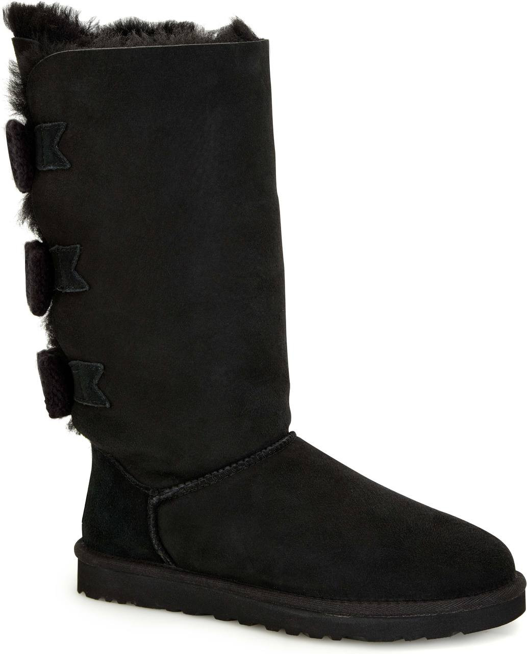 black uggs with bows women
