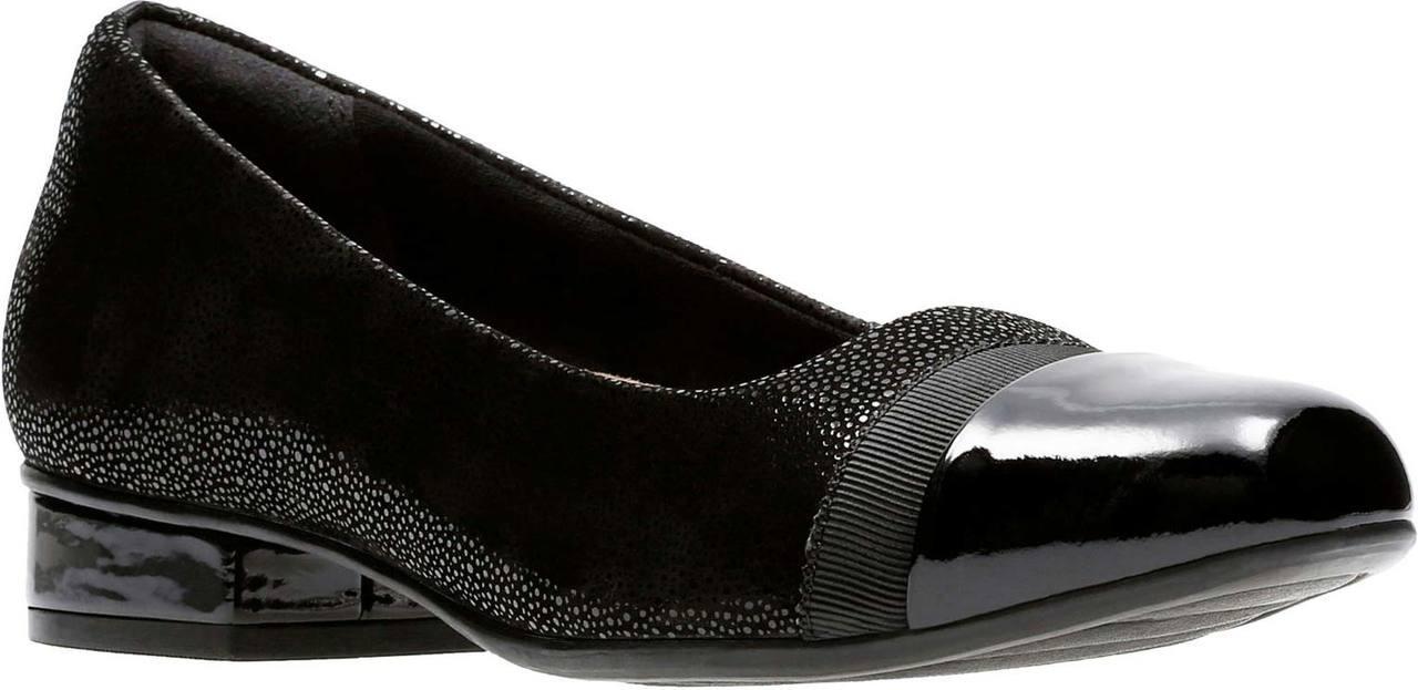 3000e10dc6 ... Clarks Women's Keesha Rosa. Aubergine Leather. Aubergine Leather; Black  Interest Nubuck/Black Patent Leather Combi ...
