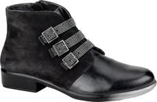 Black Madras Leather/Black Velvet Nubuck