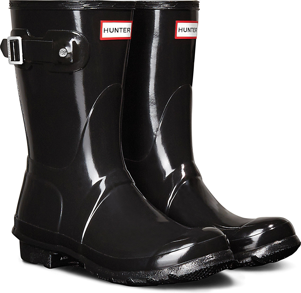 b7d8dae69cea6b Hunter Women s Original Short Gloss Rain Boot - FREE Shipping   FREE ...