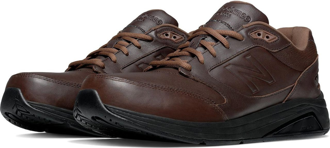 new balance mens leather walking shoes