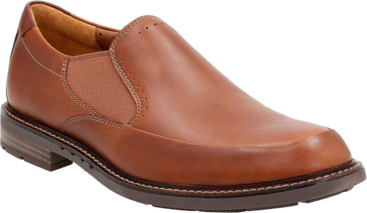 2019 year style- Clarks Mens Brown Leather Slip On Casual Shoe-52220