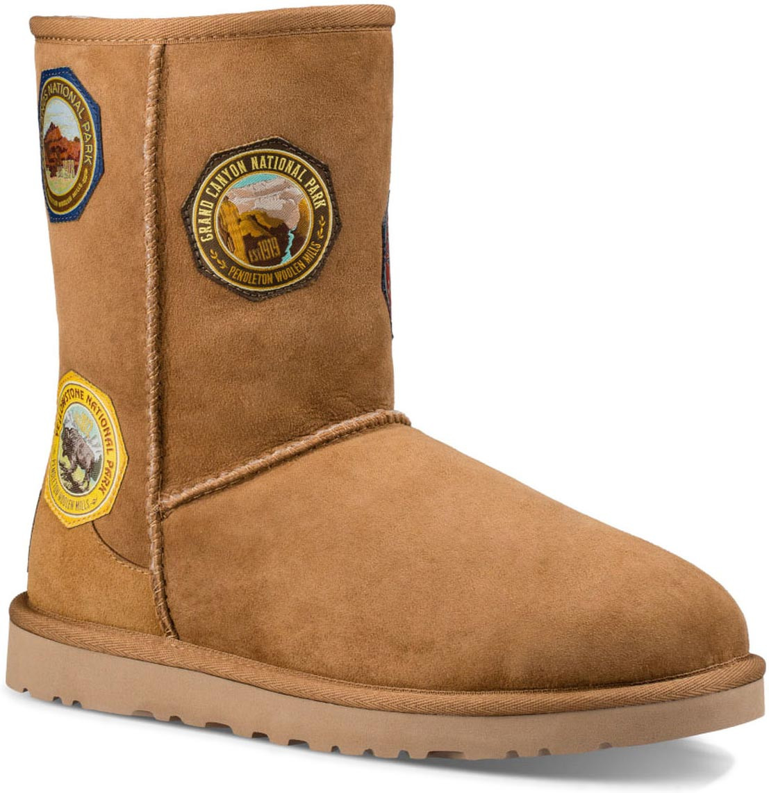 ... UGG Women's Classic Short NP Patch. Chestnut