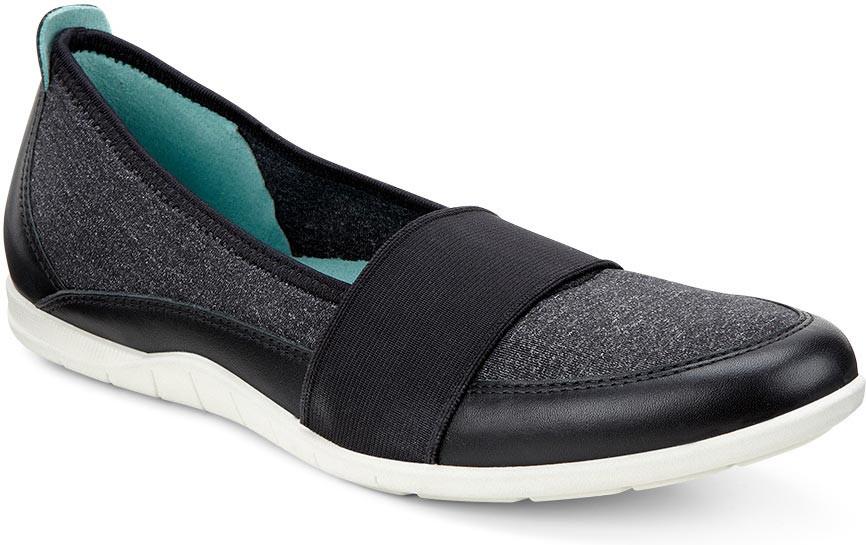 Shop ECCO Womens Bluma Ballerina Black Flats Size 9.5 Free