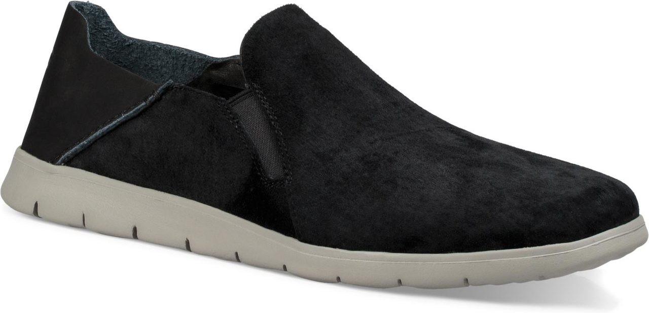 mens black suede slip on shoes