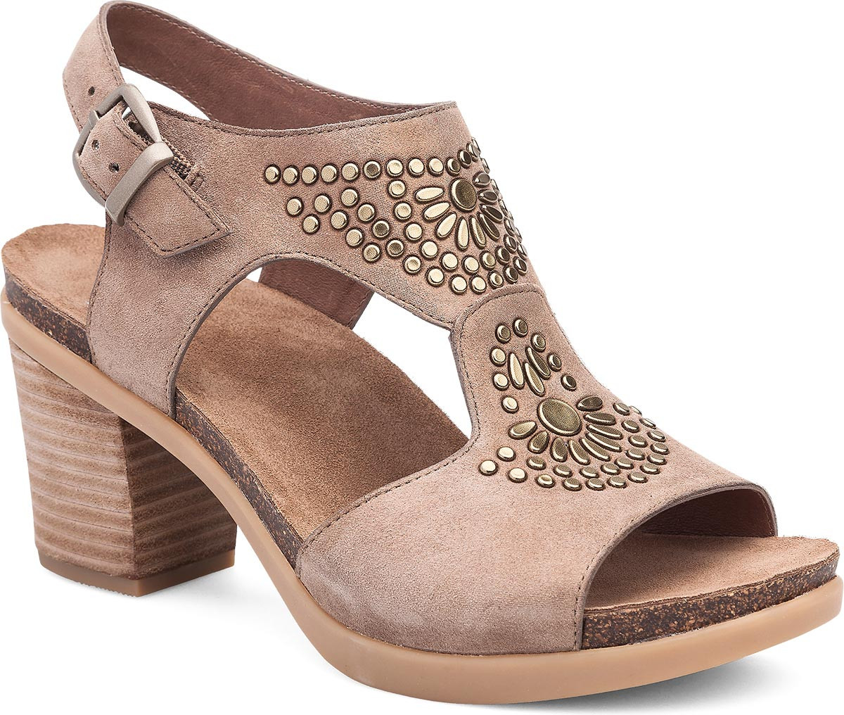 Taupe Shimmer Suede