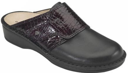 Black Croco with Dark Wine Leather Vamp