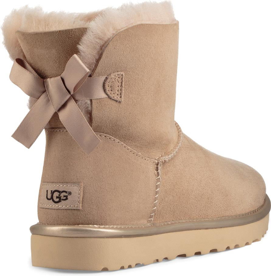 ... UGG Women's Mini Bailey Bow II Metallic. Driftwood