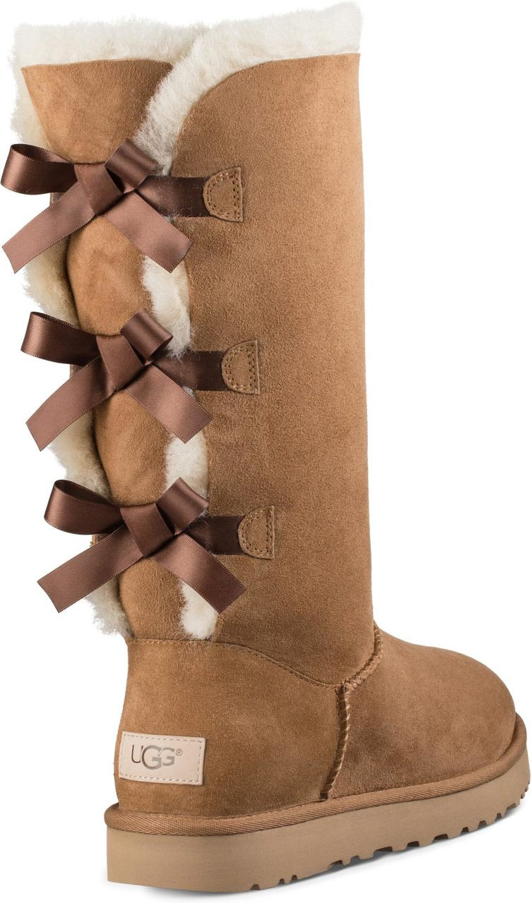 beige uggs with bows