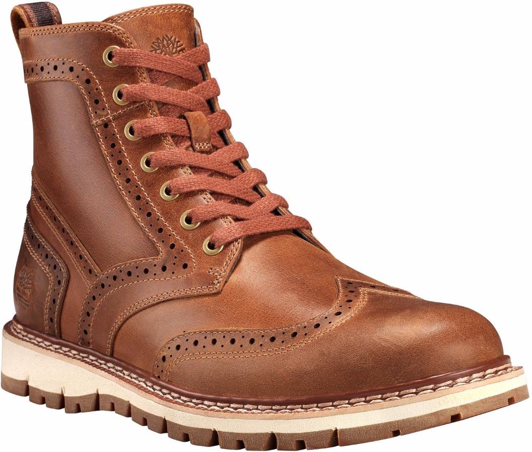 a588cfcf3dec ... Boots  Timberland Men s Britton Hill Wingtip. Medium Brown Full-Grain