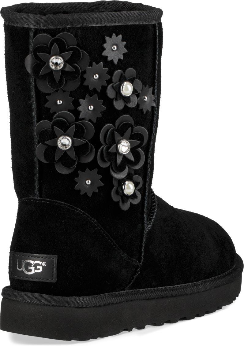 ugg classic short black boots womens
