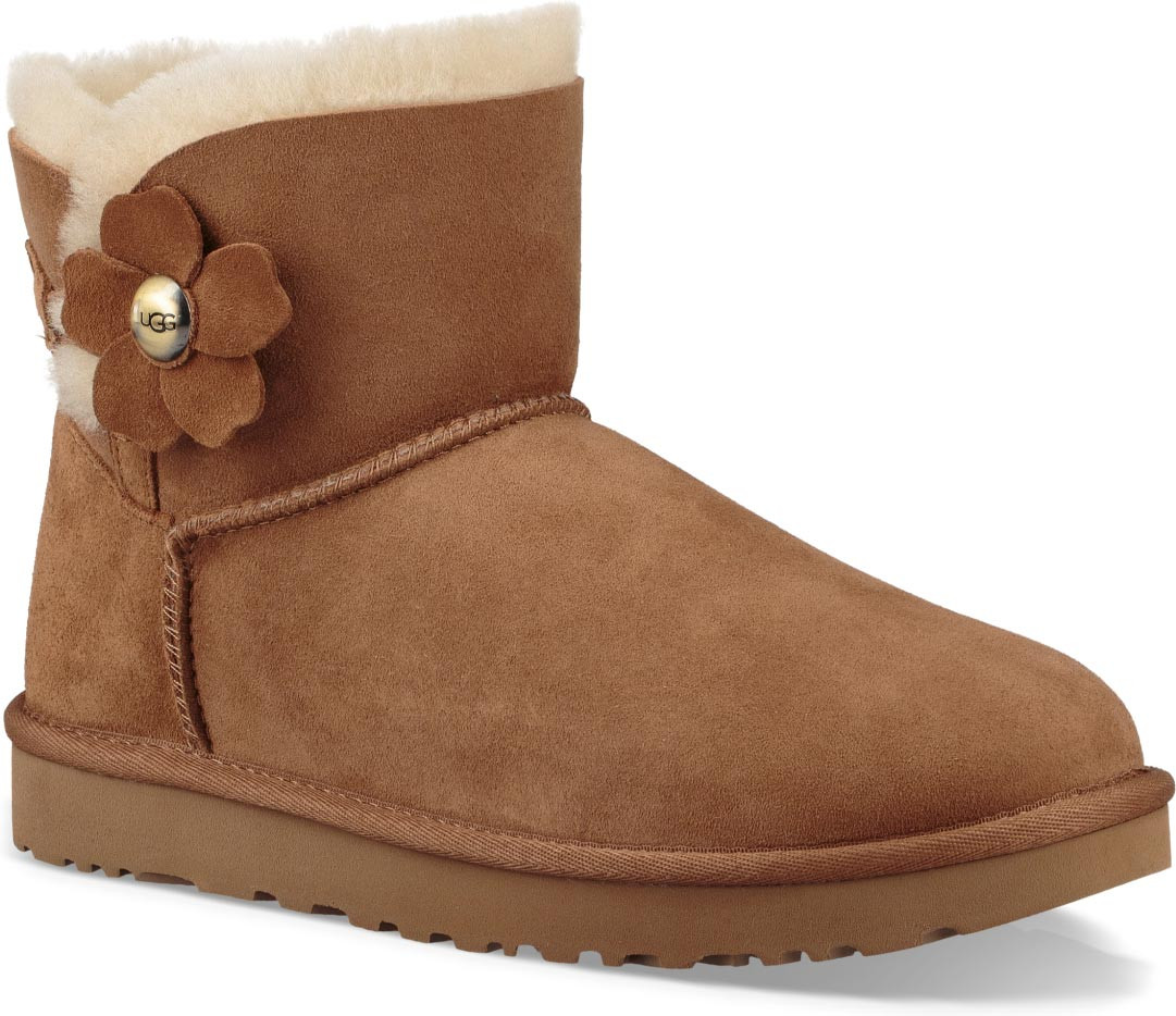 5305633956a ugg womens mini bailey button boots chestnut