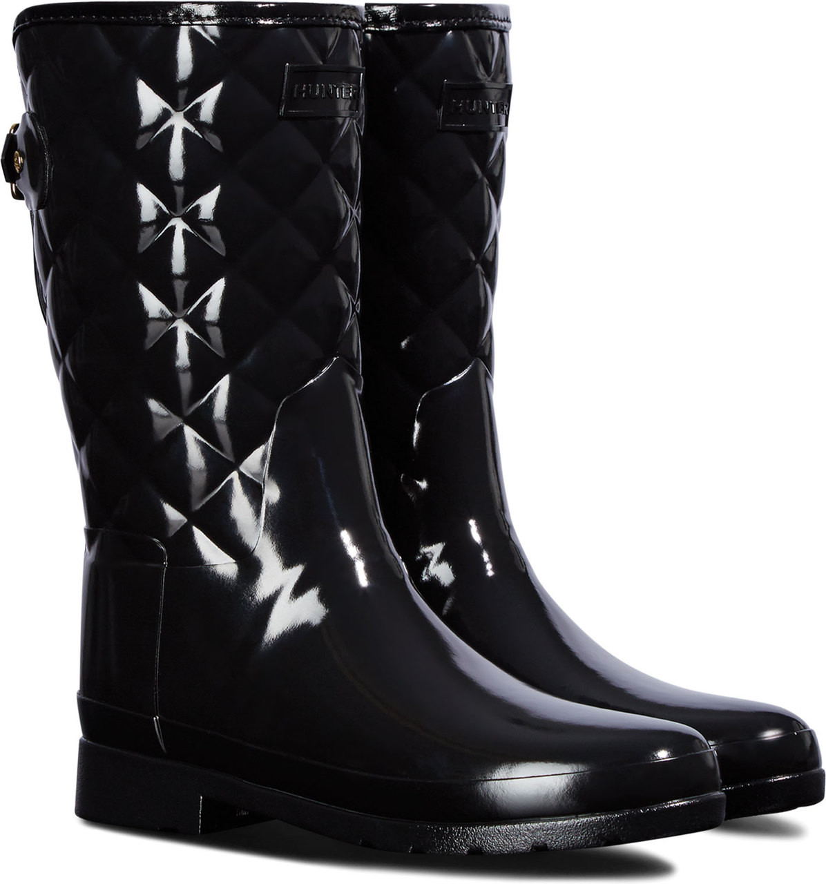 2955a6aa7bb Hunter Women's Original Short Refined Quilted Gloss Rain Boot