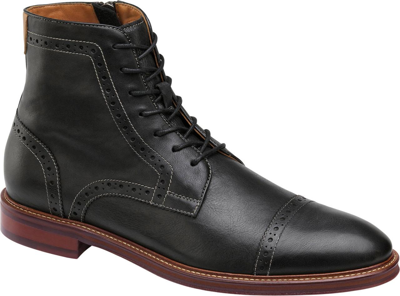 23b20bf6173 Johnston & Murphy Warner Cap Toe Zipper Boot