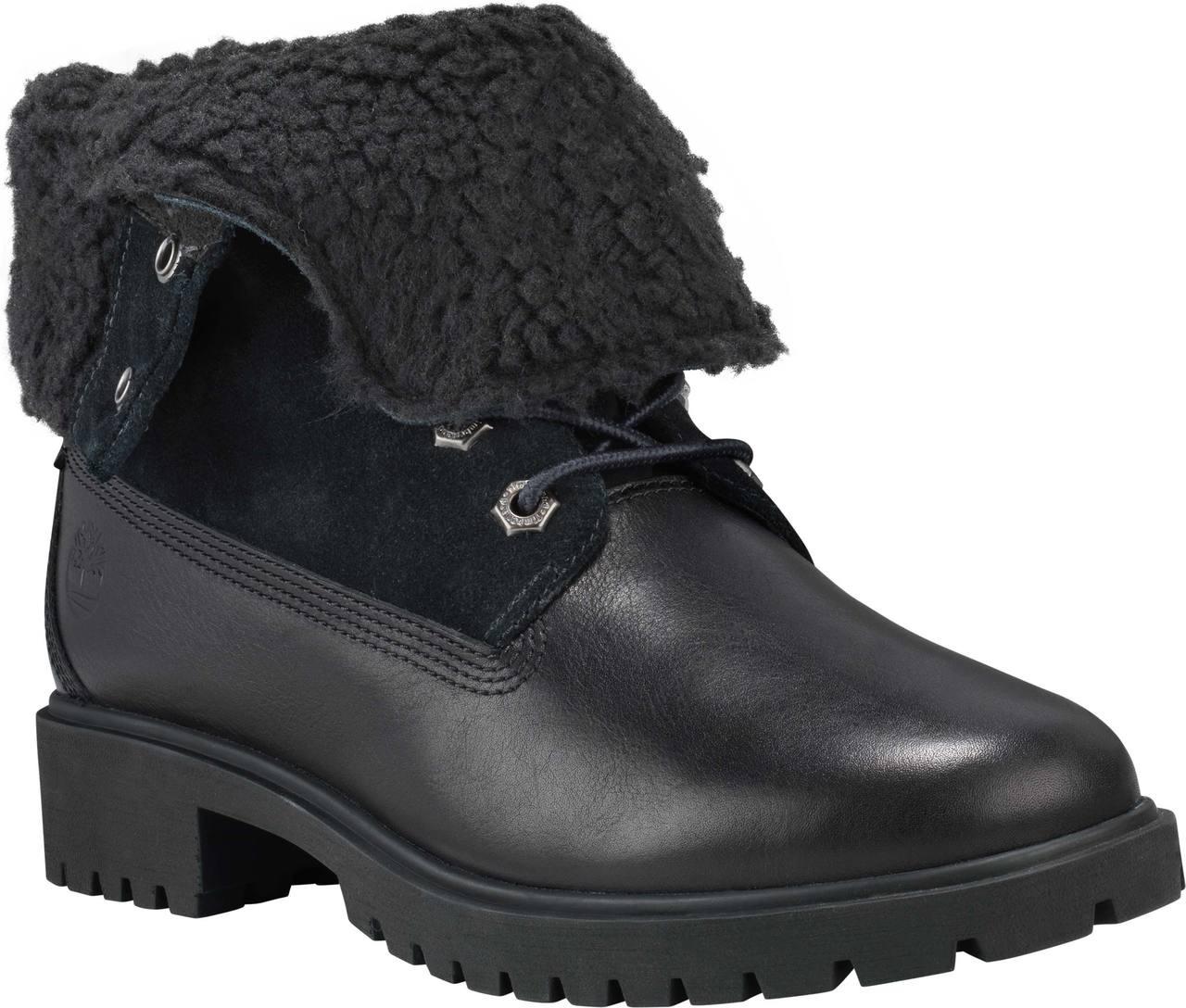 89d974cb0ba ... Boots  Timberland Women s Jayne Waterproof Fleece Fold-Down. Black  Full-Grain