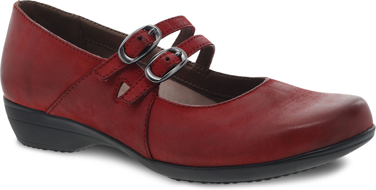 Red Burnished Nubuck