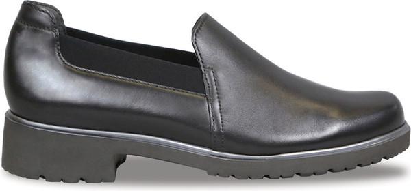 Black Leather/Black Stretch