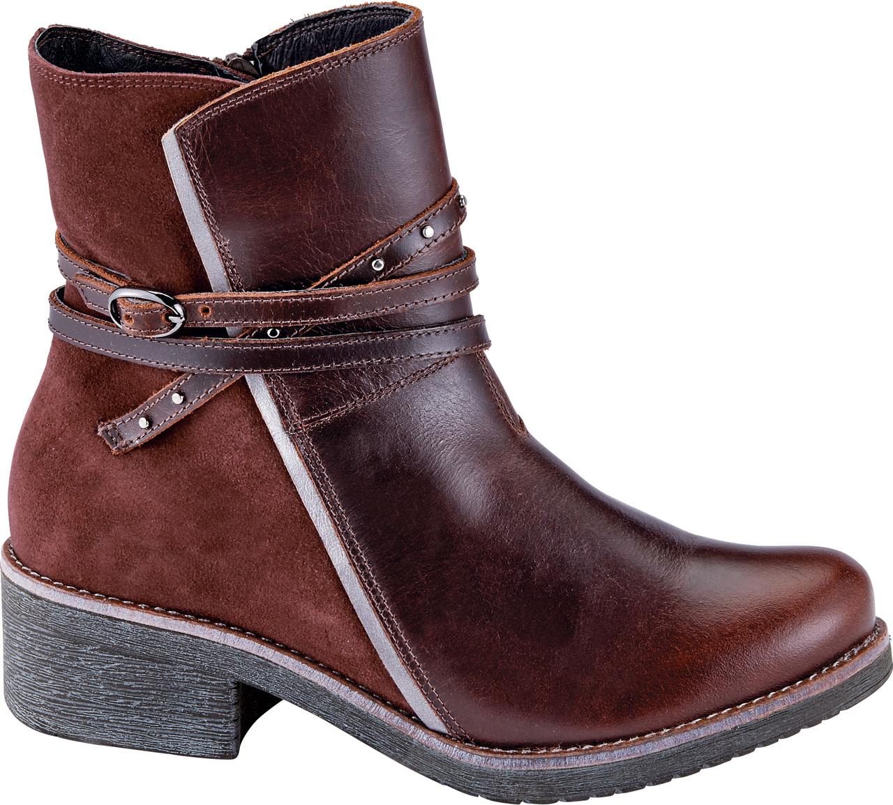 Soft Brown Leather/Rust Suede/Mirror Leather