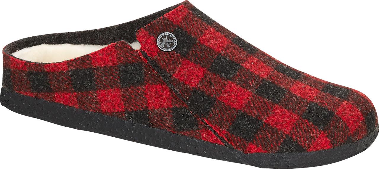 Red Plaid Wool Felt