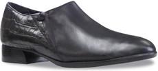 Black Leather/Croc