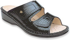 Black Croco Print Leather