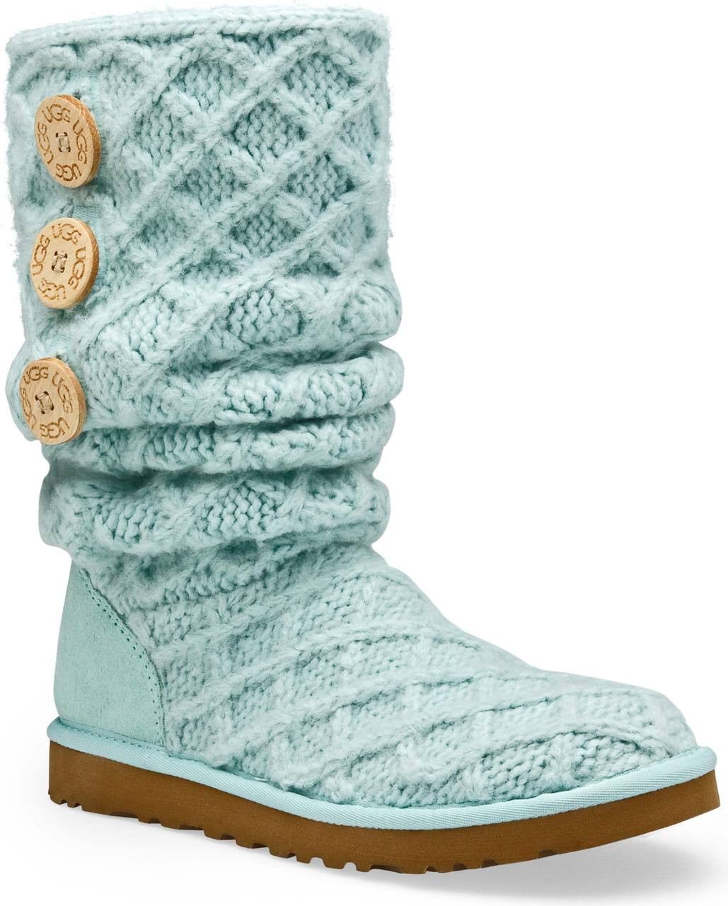blue knit ugg boots