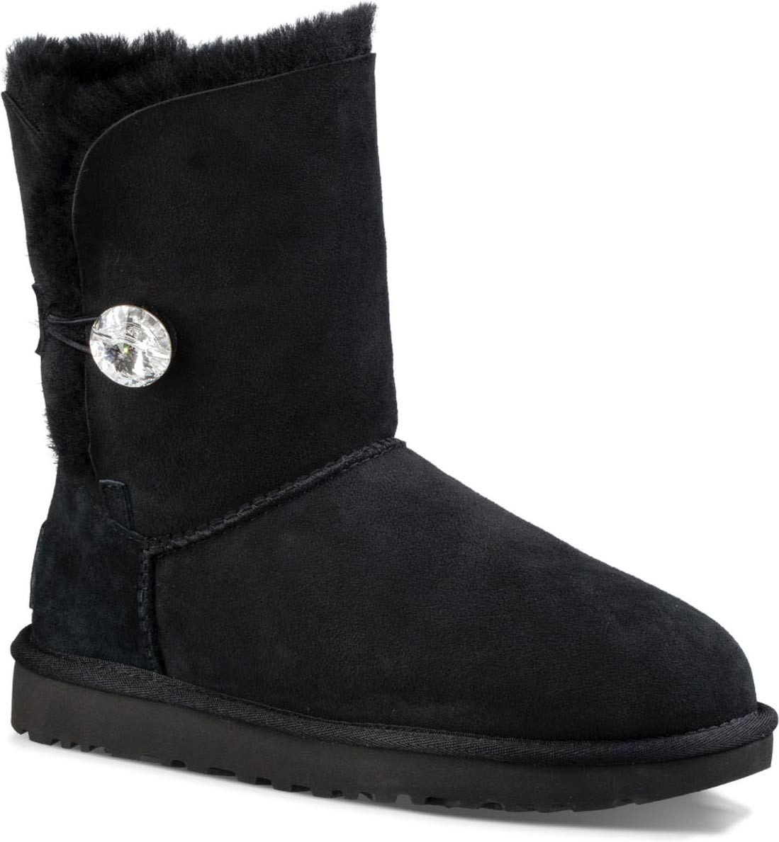 black ugg boots with diamond button