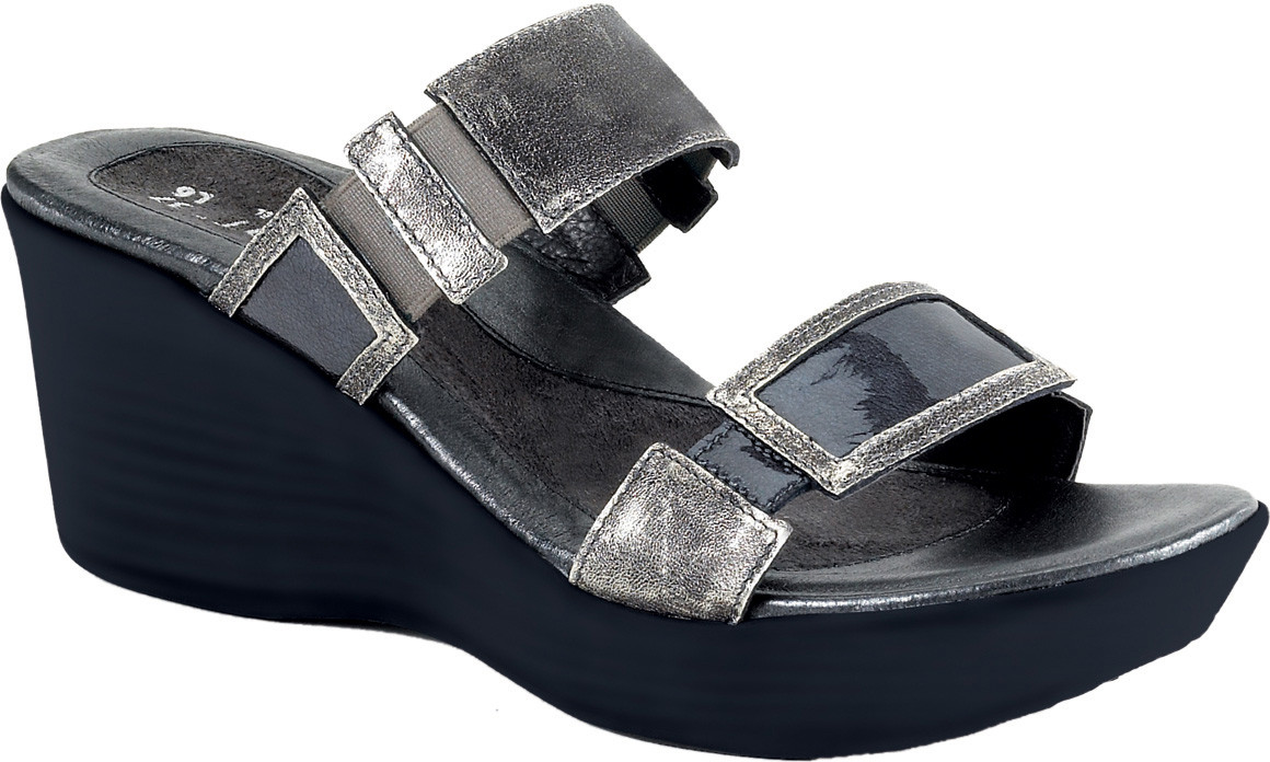 Metal Leather/Gray Patent