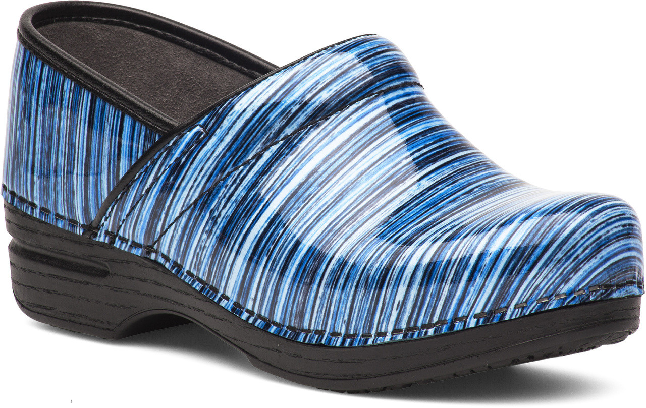 Blue Stripe Patent Leather