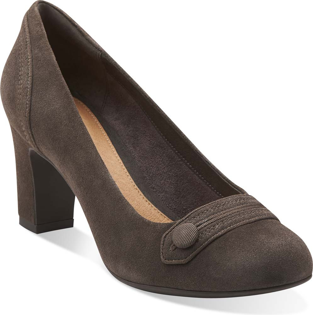Home; Clarks Women's Tamryn Cider (Available in Multiple Colors). Black  Leather. Black Leather; Black Suede; Navy Suede; Pewter Suede