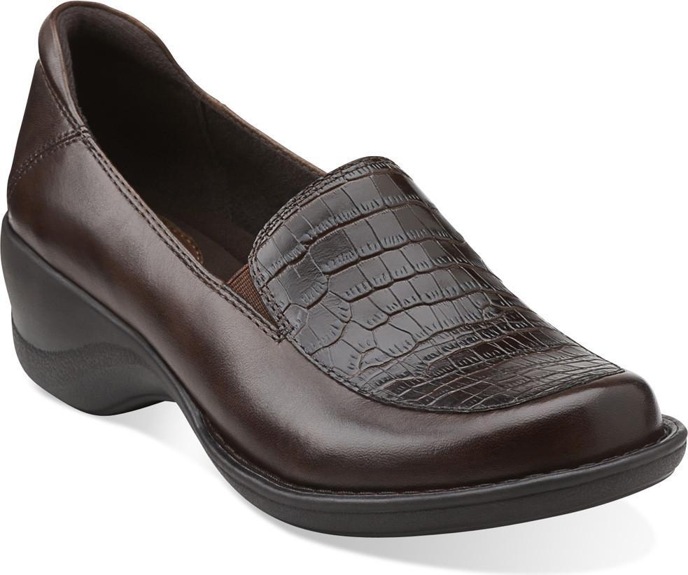 Dark Brown Croc Court Shoes