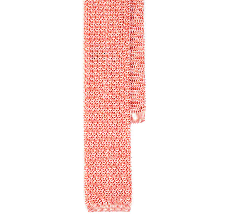 Classic Knit Silk Tie in Pink
