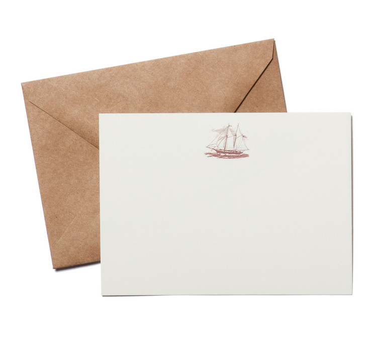 Terrapin Stationers Clipper Ship Engraved Stationery Set
