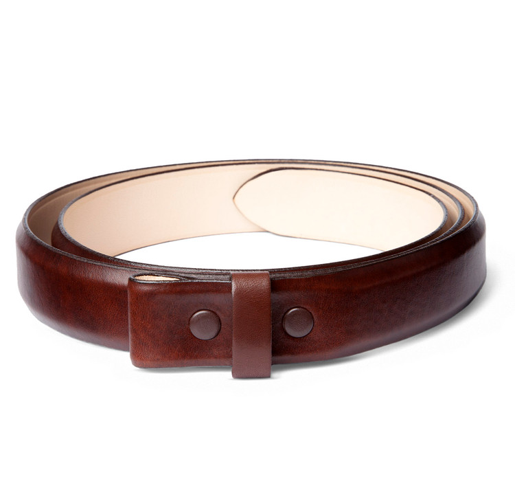 """Brown Pulled Leather 1"""" Belt Strap"""