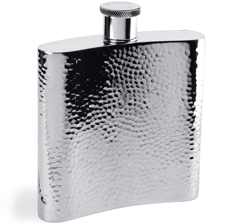 Sportsman 26oz Pewter Hammered Flask