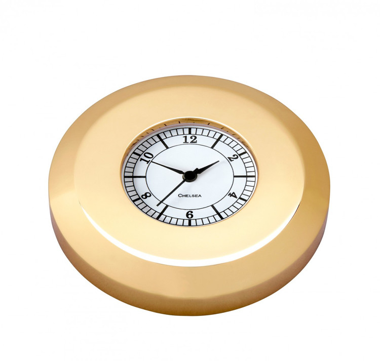Chelsea Chart Weight Clock in Brass