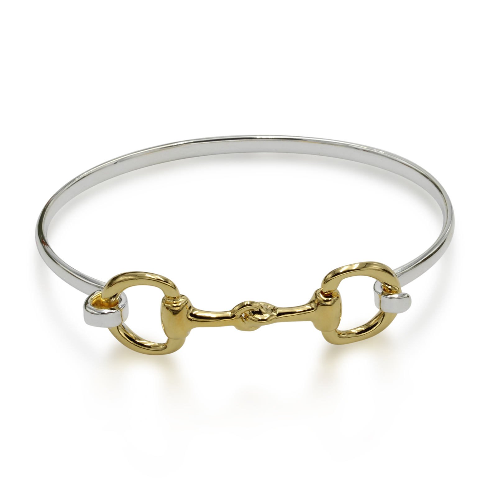 Full Snaffle Bit Bangle Gold n Silver
