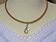 Natural Color Leather Cord | Stirrup | Horse shoe Necklace | Caracol Jewelry