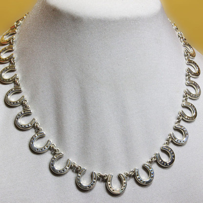 Sterling Silver Horseshoe Necklace | Caracol - Equestrian Inspired Jewelry & Handbags