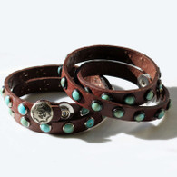 Brandy Leather Bracelet | Turquoise Bracelet