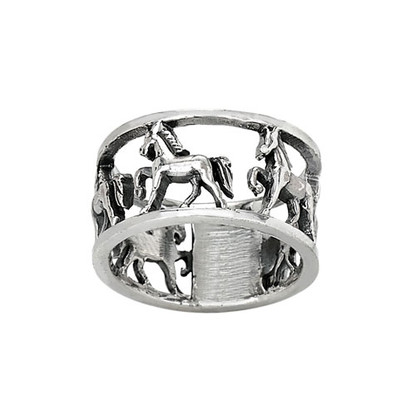 Sterling Silver Trotting Horse Ring
