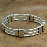 Sterling Silver Three Bar Bracelet