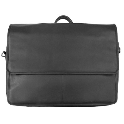 Leather Briefcase w/ Top Flap Closure | Caracol