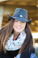 Western Leather Hat | Buffalo Nickel Accent