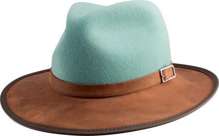 Summit Hat | Leather | Felt | Sage